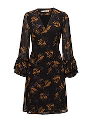 Carola wrap dress ZE4 17 - BLURRED FLOWER