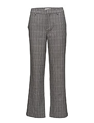 Danielle pants ZE1 18 - BLACK/WHITE CHECK