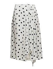 Elsie skirt ZE2 18 - WHITE NAVY DOT
