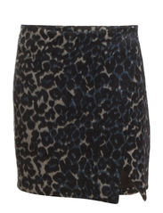 Juno skirt AO 14 - Leopard print White/blue/black
