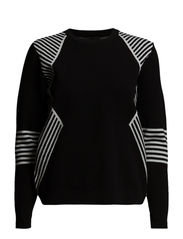 Millie pullover - Black/white