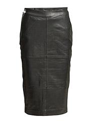 Char skirt R - BLACK