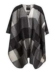 Alice cape AO15 - Black/white check