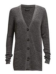 Gaby short cardigan AO15 - D.GREY MELANGE