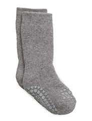 Non-slip socks - GREY MELANGE