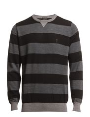 Extrafine merino sweater with crew neck - Black