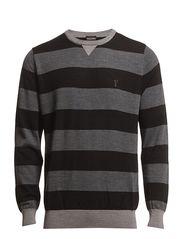 Extrafine merino sweater with crew neck - Black