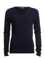 Classic V-neck pullover - Navy