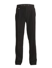 Classic microfibre pleated trousers - Black