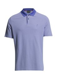 Extra Dry Striped Pique Polo - Henley Blue