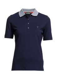 UV Protection Plain Pique Polo - Midnight Blue