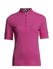 DC Pique Roll Up Sleeve Polo - Fuchsia