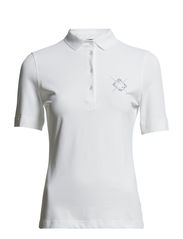 UV Protection Plain Pique Polo - Optic White
