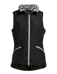 Micro Padded Waistcoat - Black