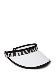 Zebra Print Cable Visor - Optic White