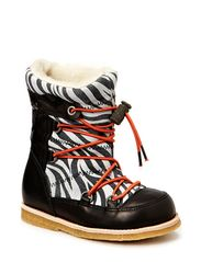 Boot w/laces Tex - black
