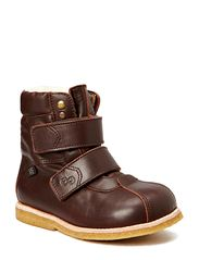 Boot w/velcro - Brown