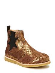 Kids boot w/zipper - gold