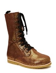 Kids boot w/laces - gold