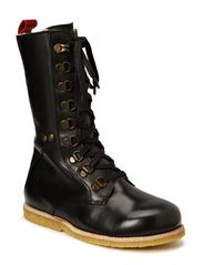 Kids boot w/laces - black