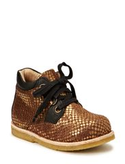 Kids shoe w/laces - gold