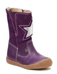 Kids boot w/zipper - lilac
