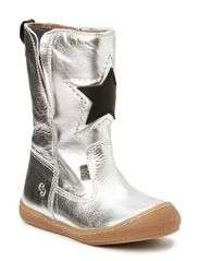 Kids boot w/zipper - silver