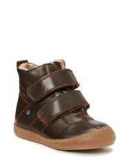 Kids boot w/velcro - brown