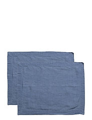 Placemat Washed Linnen 2-pack - VINTAGE INDIGO