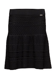 LEDA SWEATER SKIRT - JET BLACK