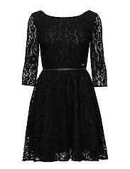 CINZIA DRESS - JET BLACK W/ FROS