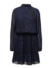 REBECCA DRESS - URBAN JUNGLE BLUE