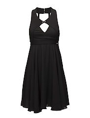 EBECCA DRESS - JET BLACK W/ FROS