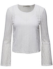 AMELIA KNIT TOP - TRUE WHITE