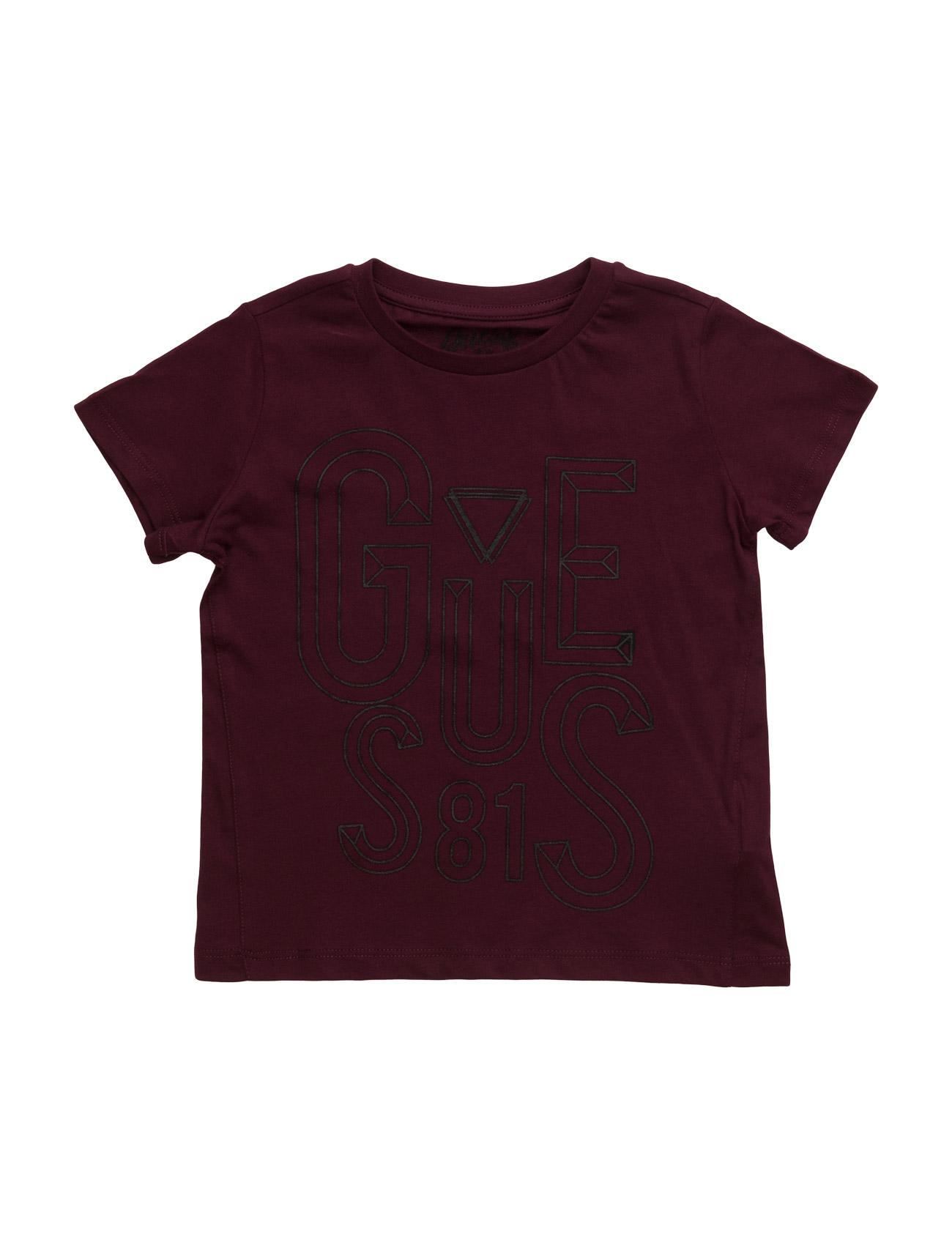 Ss T-Shirt GUESS Kortærmede t-shirts til Børn i Mauve