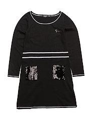 DRESS - JET BLACK W/ FROS