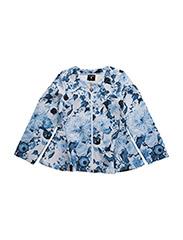 LS SWEATSHIRT W/ZIP - BLUE FLOWERS