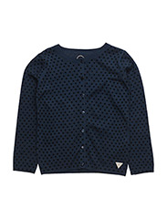 LS CARDIGAN - HEARTS BLUE