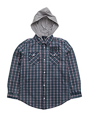 LS SHIRT REGULAR FIT - BLUE CHECK