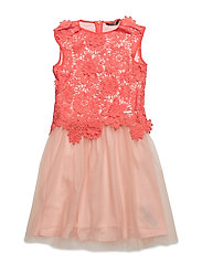 LS DRESS_MARCIANO - CORAL PUNCH