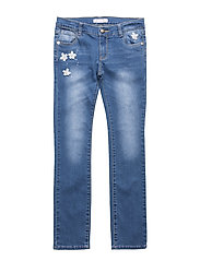 KNIT DENIM PANTS - MEDIUM  WASH