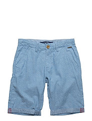 SHORT PANT - BLUE JACQUARD COM