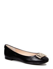 QUINNA/BALLERINA/LEATHER - BLACK