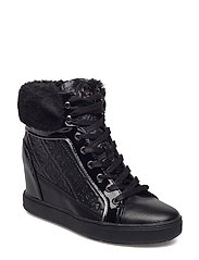 FREDA WEDGE SNEAKER - BLACK