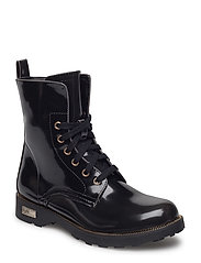 NAFA LACE-UP LOW BOOT - BLACK