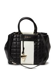BLAKE SMALL SATCHEL - Black & White
