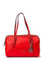 DELANEY BOX SATCHEL - CNY RED