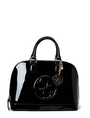 COOL SHINE DOME SATCHEL - BLACK