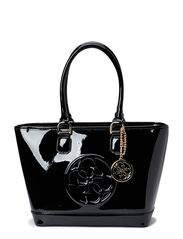 COOL SHINE SMALL TOTE - BLACK