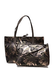 BOBBI INSIDE OUT TOTE - CAMO GREY